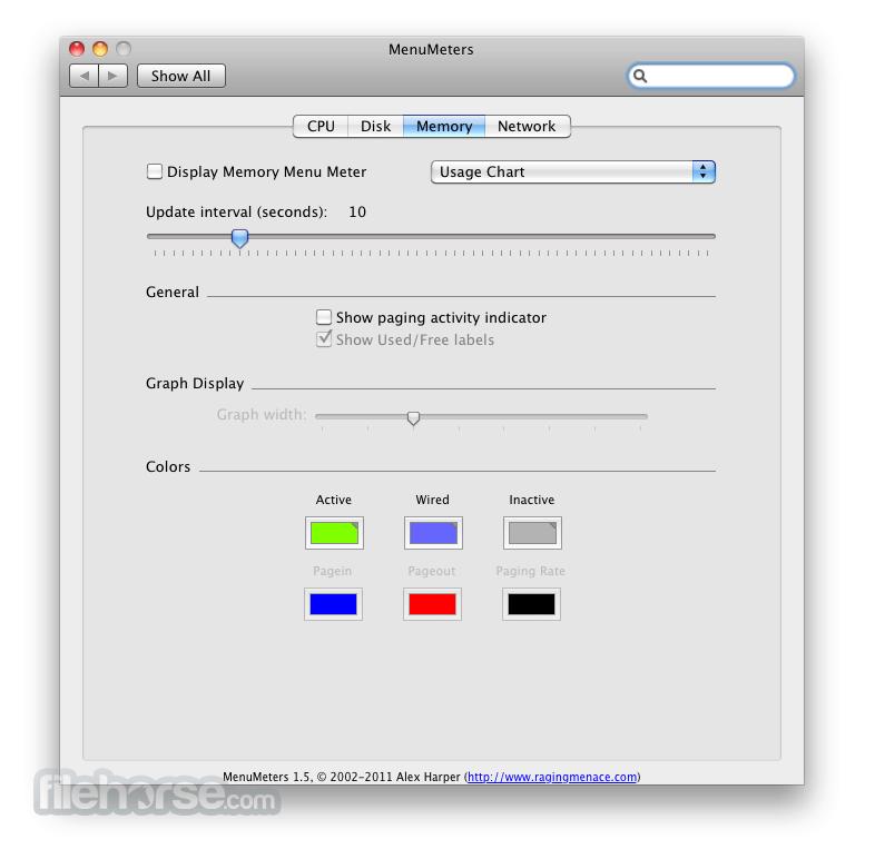 MenuMeters 2.0.7 Screenshot 3
