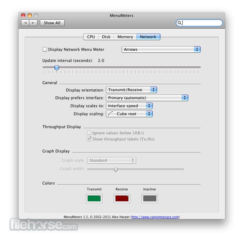 MenuMeters 2.0.7 Screenshot 4