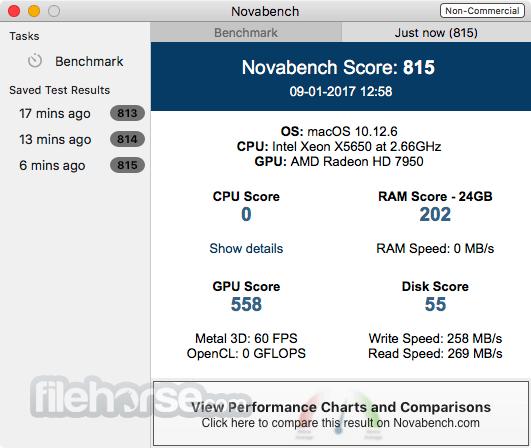 NovaBench 4.0.1 Screenshot 2