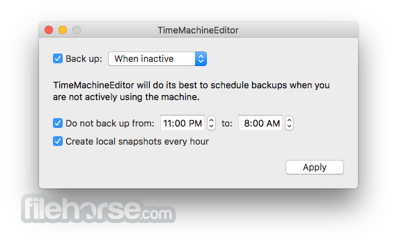 TimeMachineEditor 5.1.8 Captura de Pantalla 2