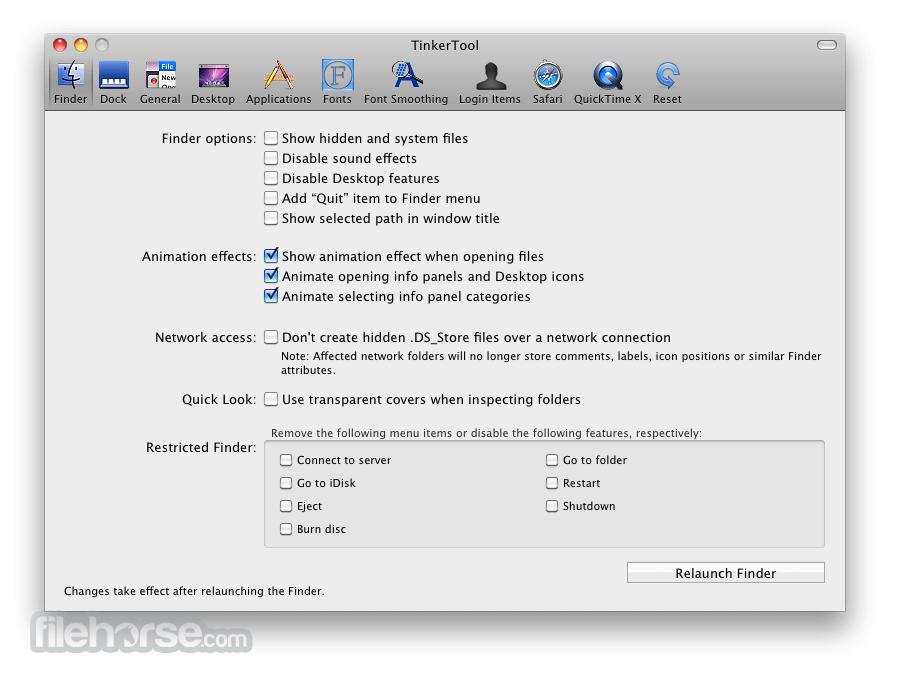 TinkerTool 6.1 Screenshot 1
