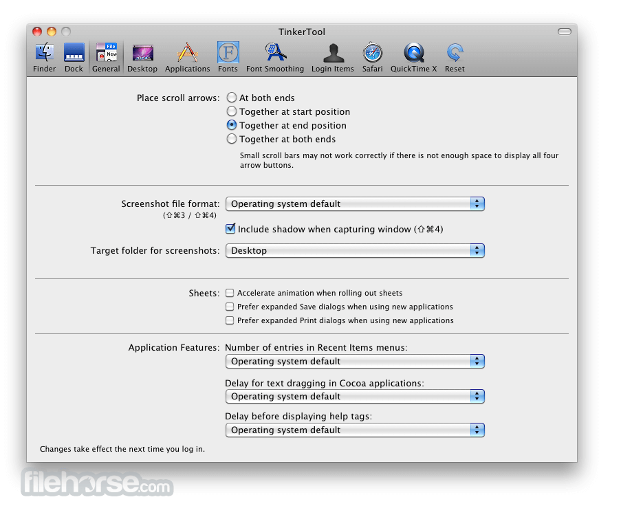 TinkerTool 6.1 Screenshot 2