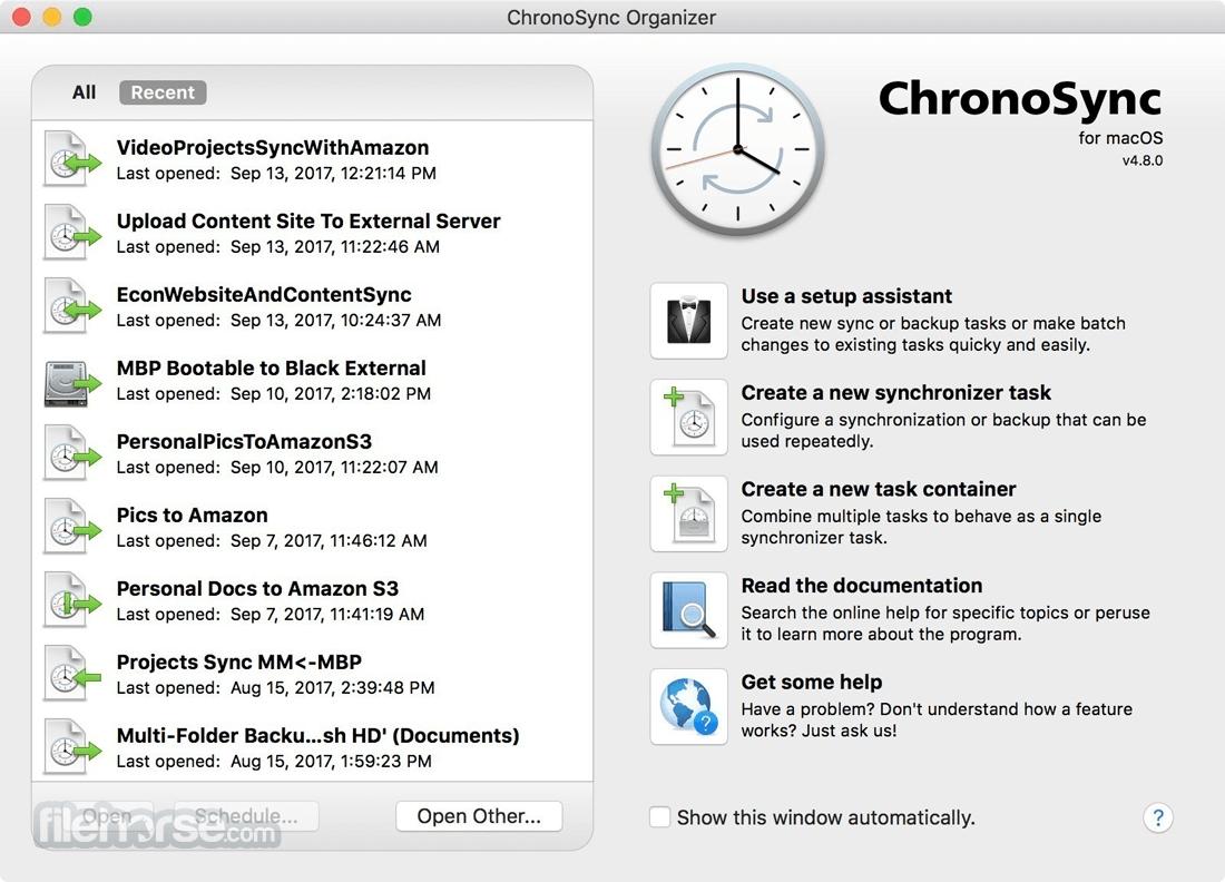 ChronoSync 4.9.13 Screenshot 1