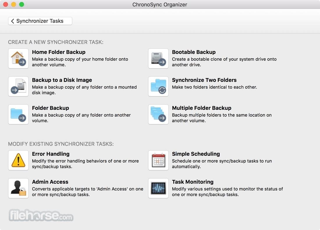 ChronoSync 4.9.13 Screenshot 2