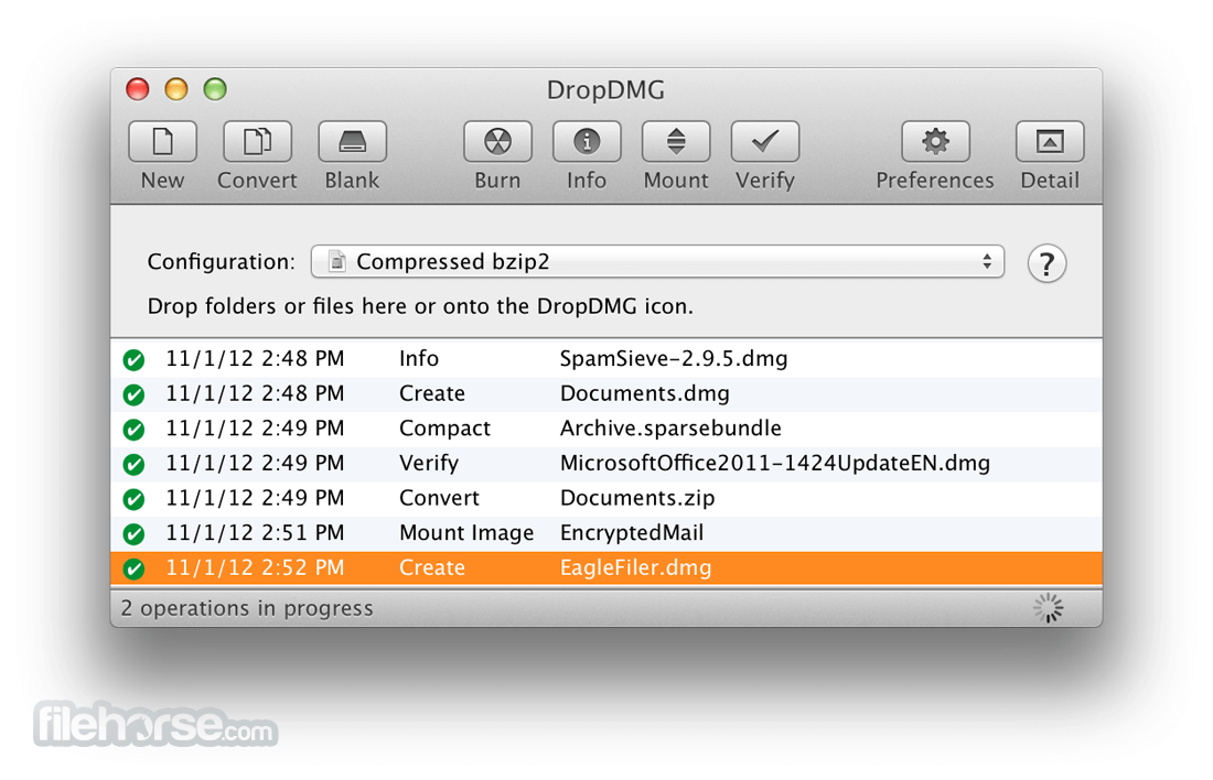 DropDMG 3.6.1 Screenshot 1