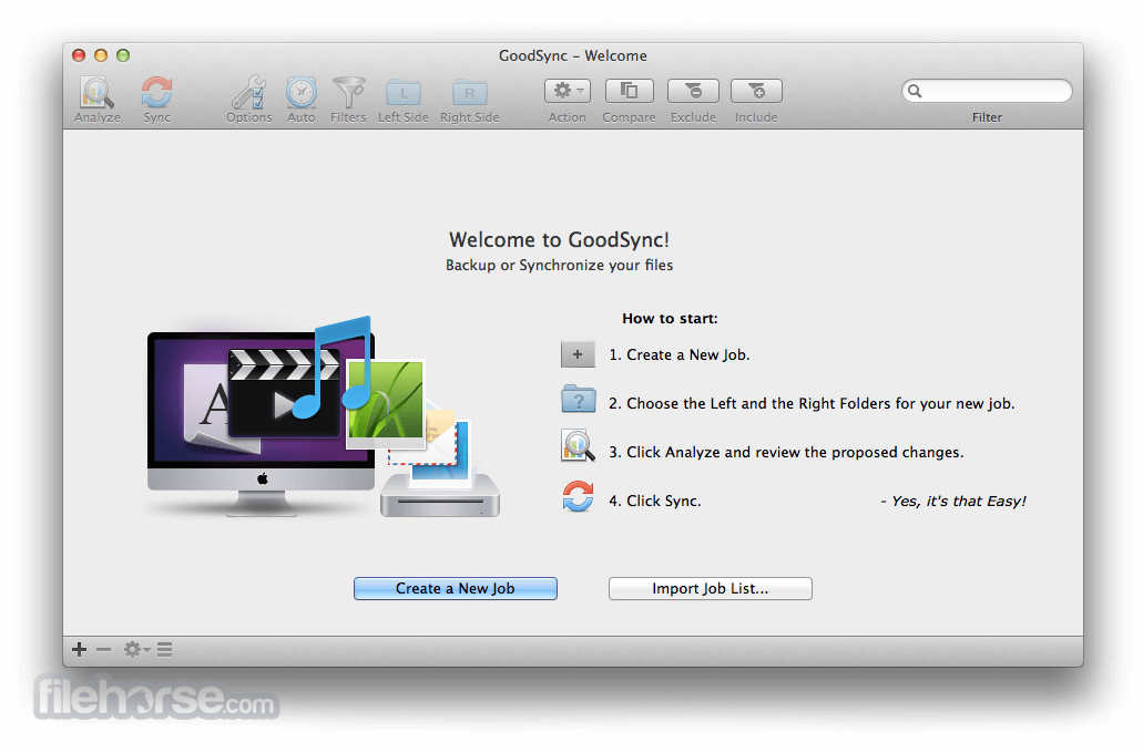 GoodSync for Mac 5.2.2 Captura de Pantalla 1