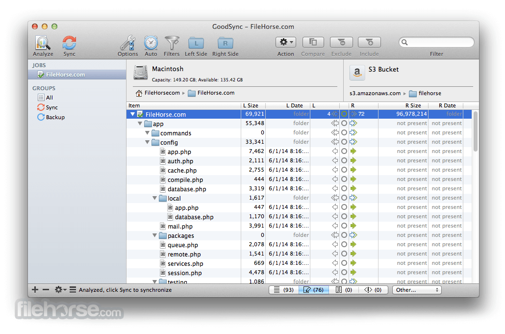 GoodSync for Mac 5.2.0 Captura de Pantalla 3