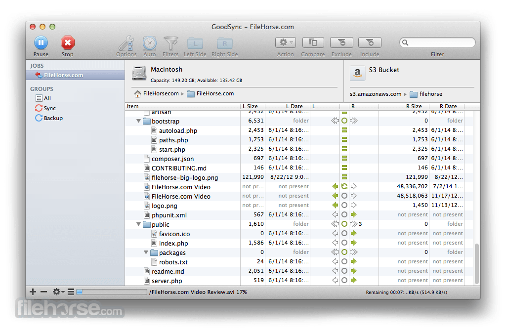GoodSync for Mac 5.5.1 Captura de Pantalla 4