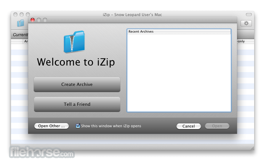 iZip 2.1 Screenshot 1