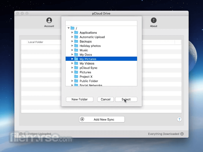 pCloud Drive for Mac 3.9.6 Screenshot 3