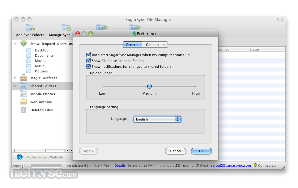 SugarSync Manager 3.11.1 Screenshot 3