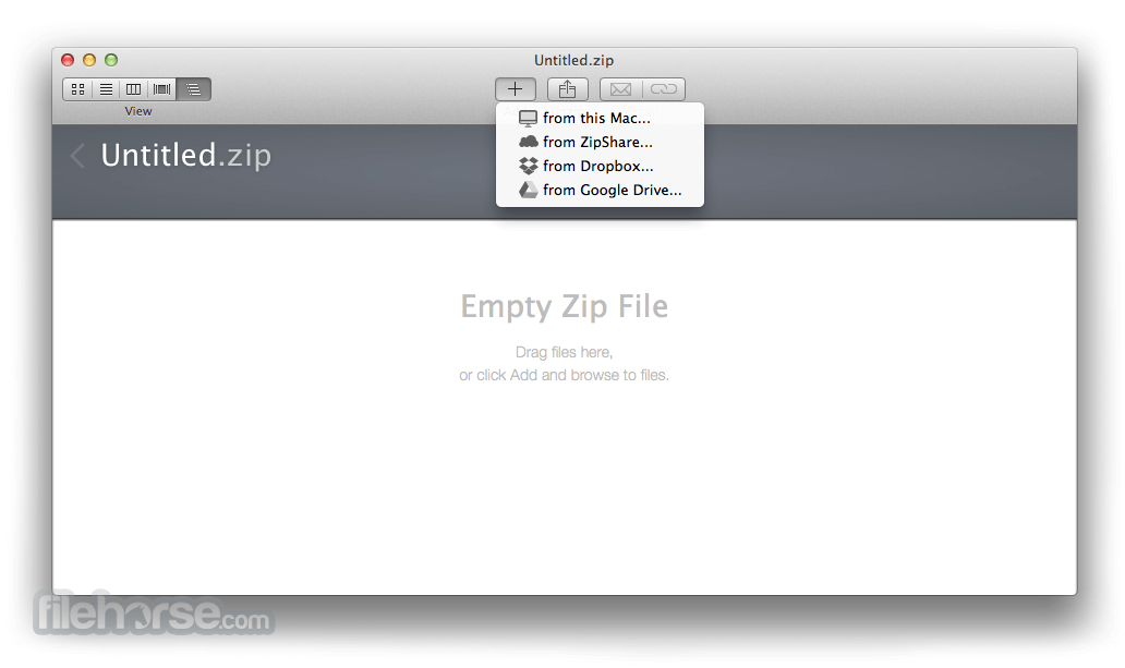 WinZip Mac Edition 8.0 Screenshot 1