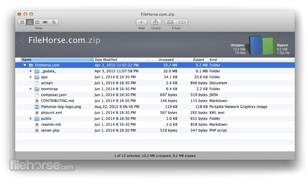 WinZip Mac Edition 6.2 Screenshot 2