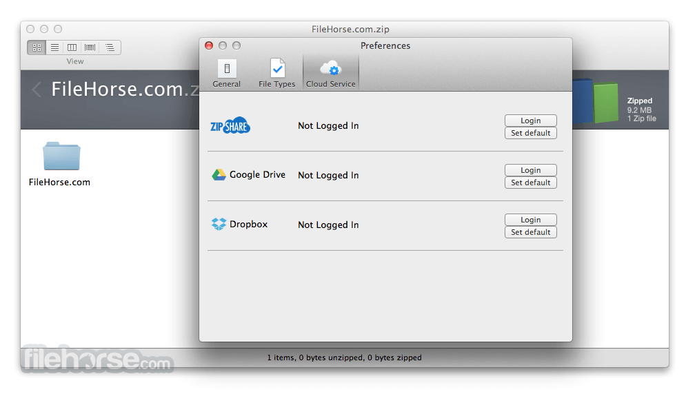 WinZip Mac Edition 6.2 Screenshot 3