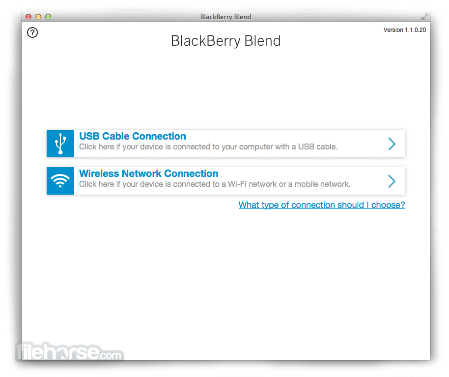 BlackBerry Blend 1.2.0.58 Screenshot 1