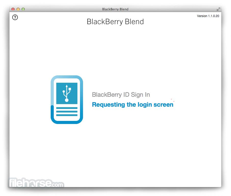 BlackBerry Blend 1.1.0.20 Screenshot 2