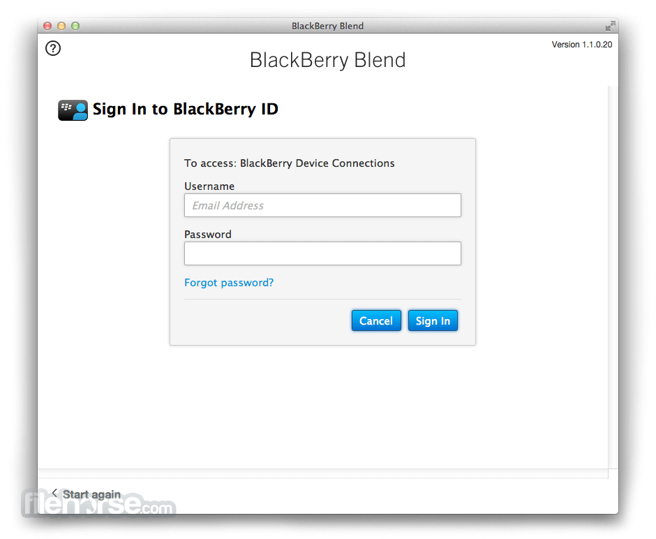 BlackBerry Blend 1.2.0.58 Screenshot 3