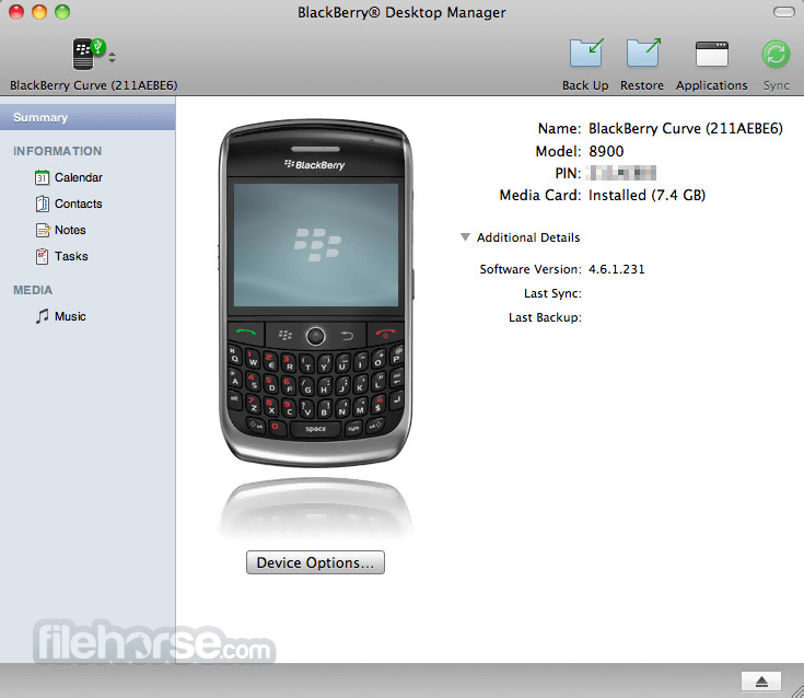BlackBerry Desktop Software 2.4.0.18 Screenshot 1