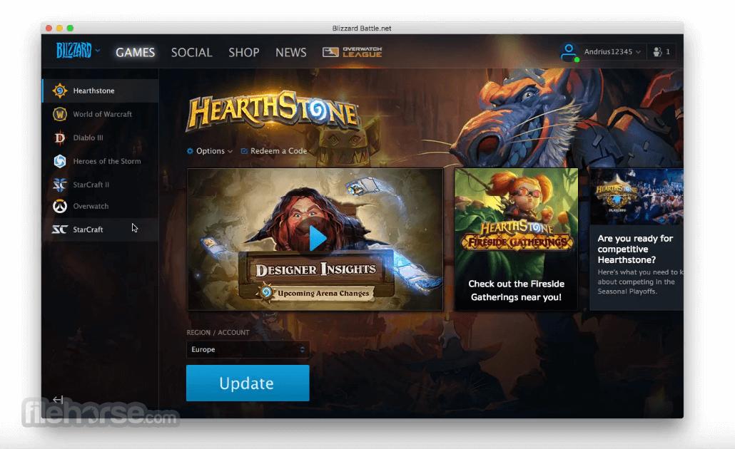 Blizzard Battle.net Desktop Screenshot 2