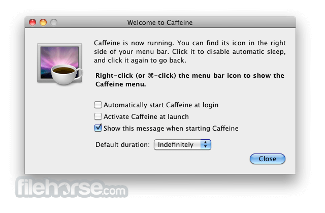 Caffeine 1.1 Screenshot 1