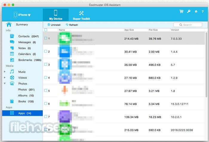 Coolmuster iOS Assistant 2.0 Build 171 Screenshot 5