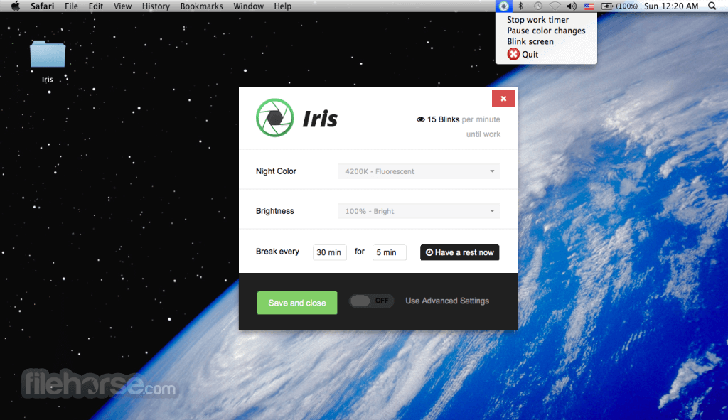 Iris 1.2.0 Screenshot 1