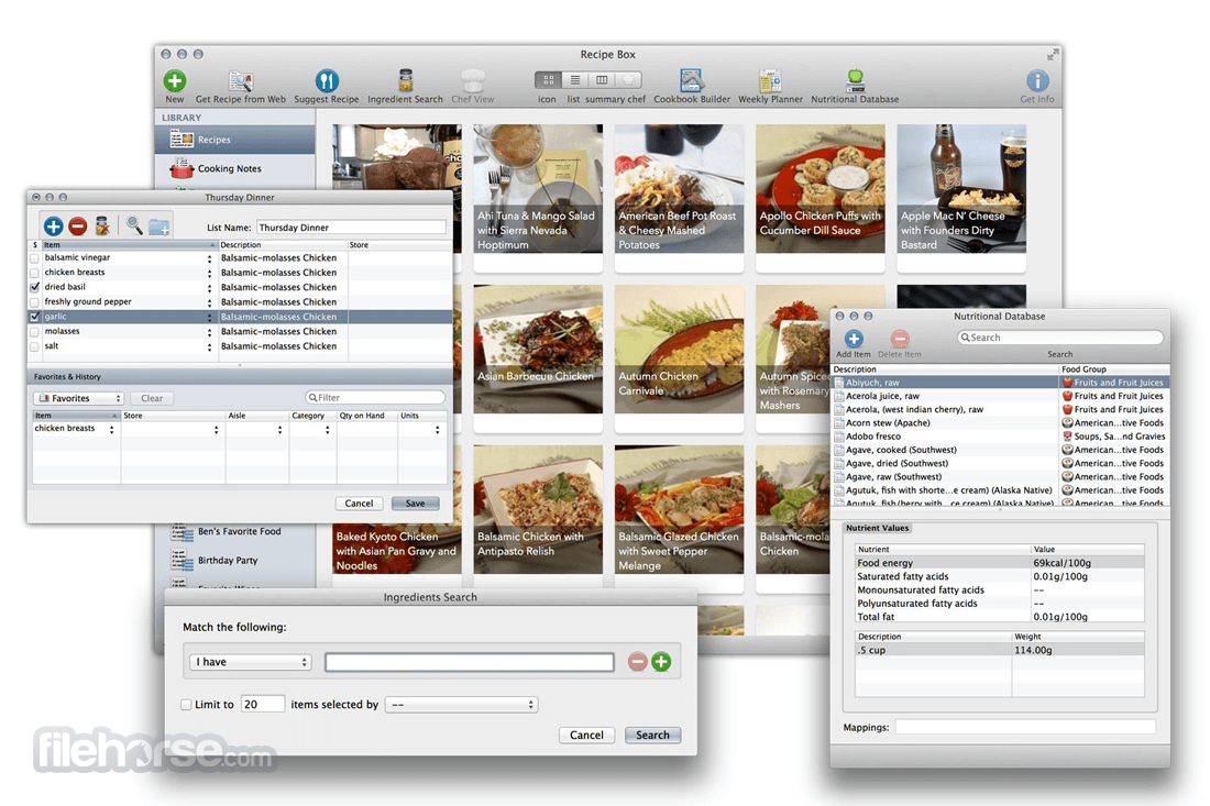 MacGourmet Deluxe 4.2.9 Screenshot 1