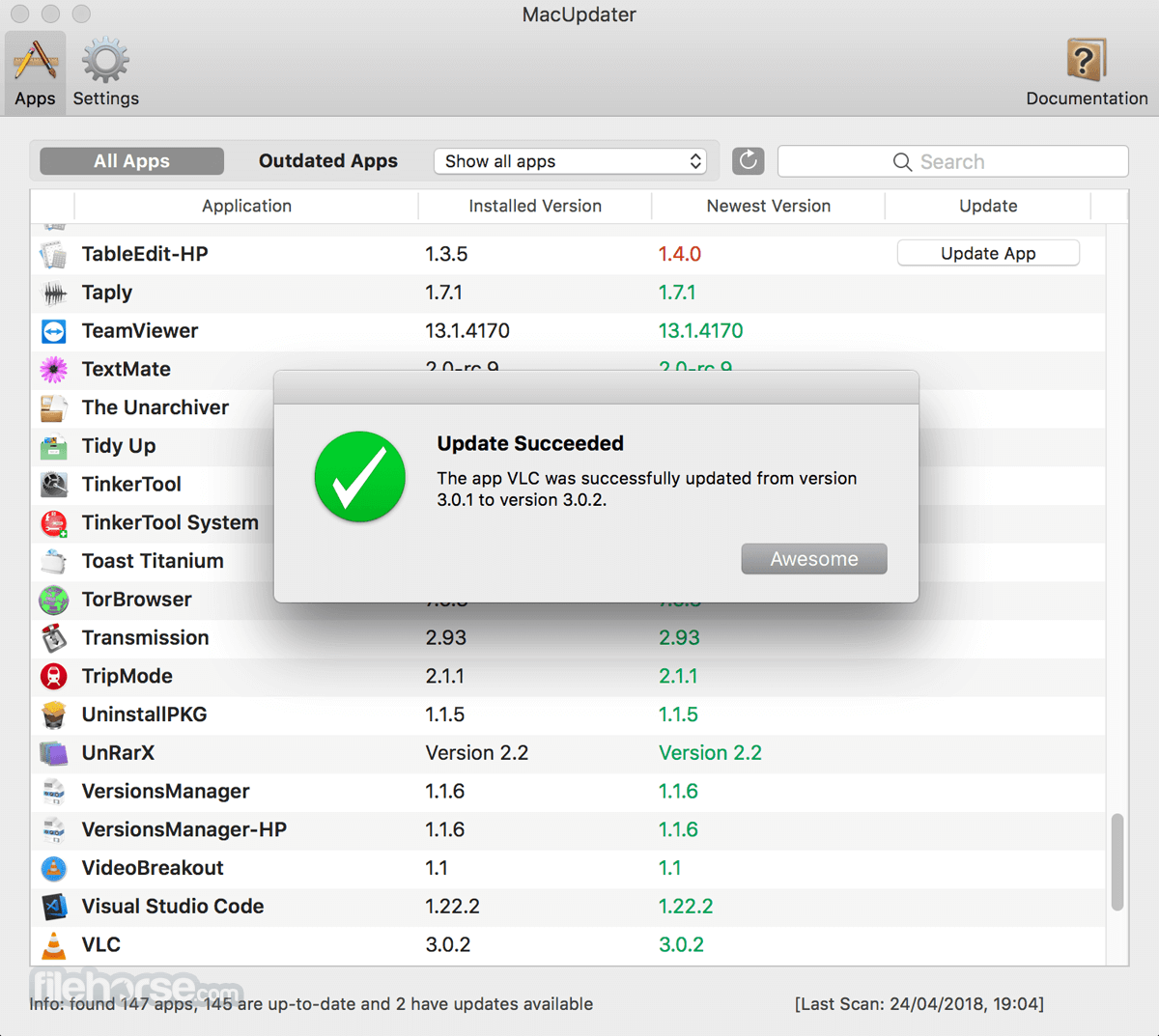 MacUpdater 1.5.1 Screenshot 3