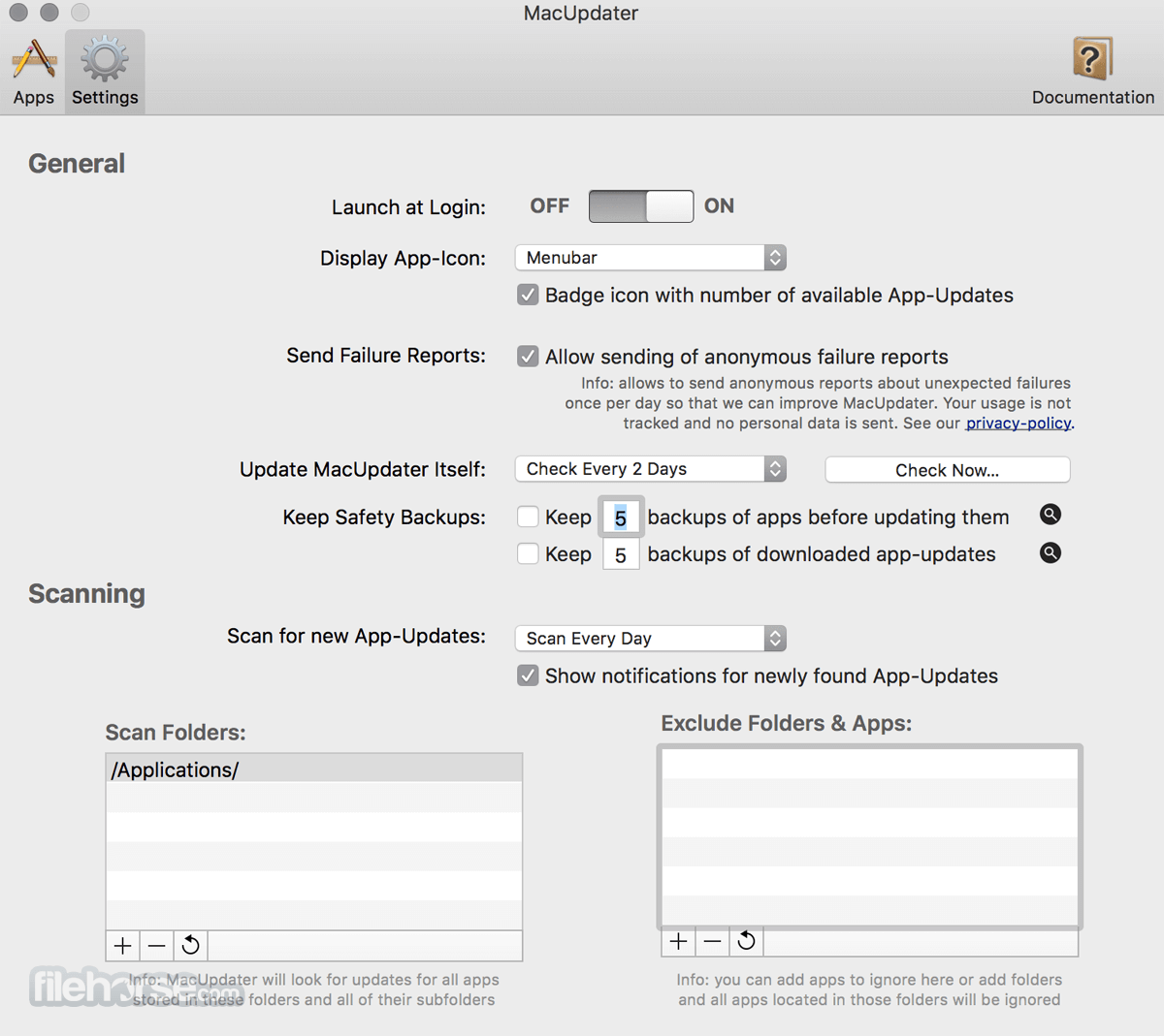 MacUpdater 1.5.1 Screenshot 4