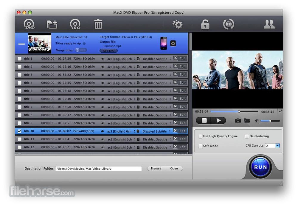 MacX DVD Ripper Pro 6.0.0 Screenshot 1