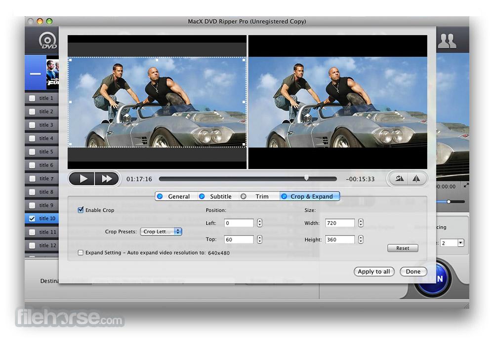 MacX DVD Ripper Pro 6.1.0 Screenshot 2