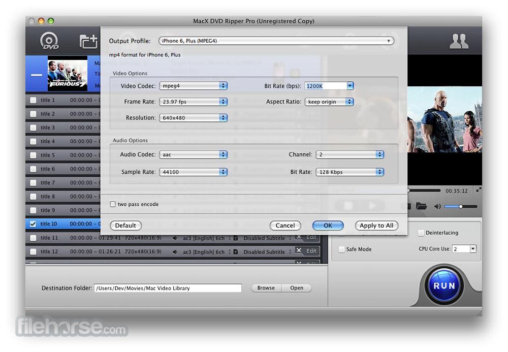 MacX DVD Ripper Pro 4.6.1 Captura de Pantalla 4
