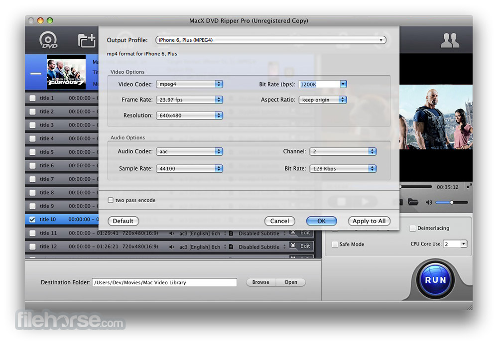 MacX DVD Ripper Pro 6.0.0 Screenshot 4