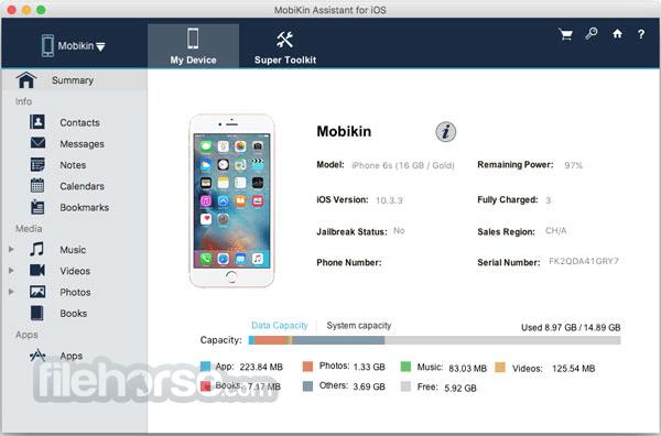 MobiKin Assistant for iOS 2.2.81 Screenshot 1
