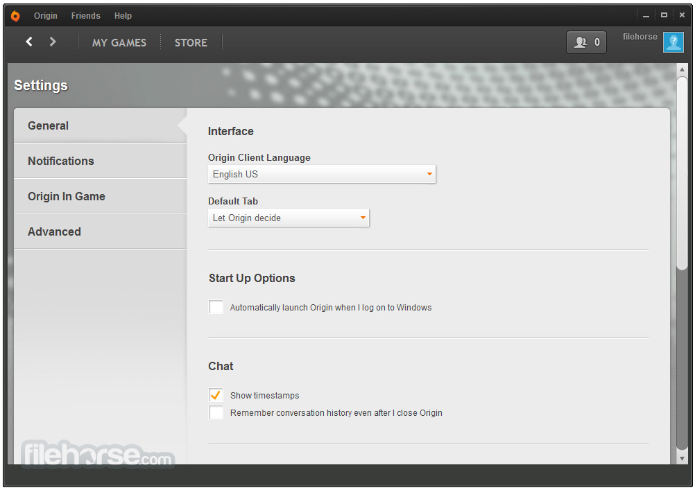 Origin 10.5.97 Screenshot 5