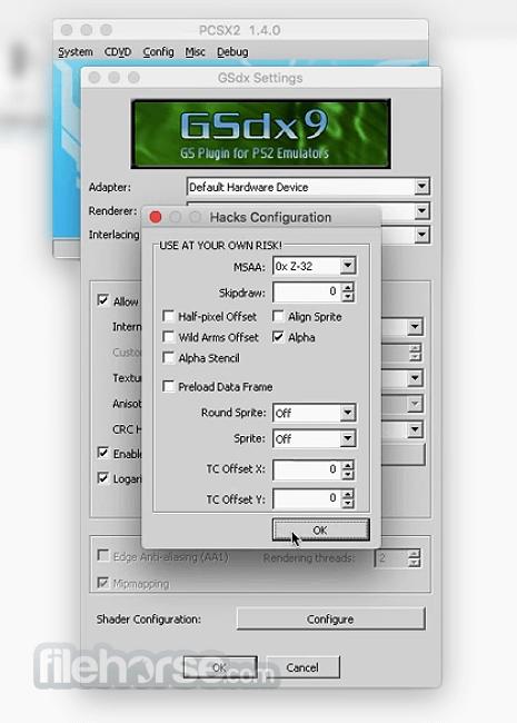 PCSX2 0.9.7 Screenshot 2