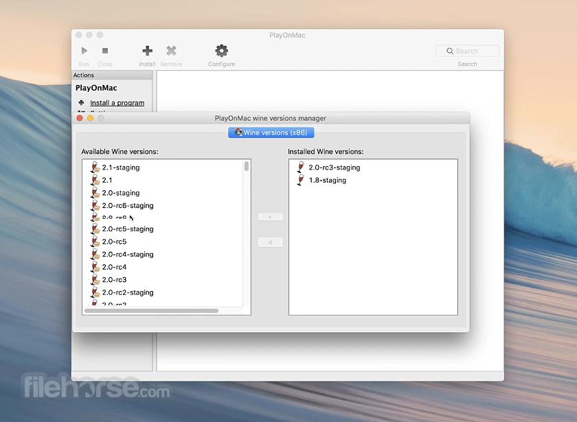 PlayOnMac 4.4.3 Screenshot 1