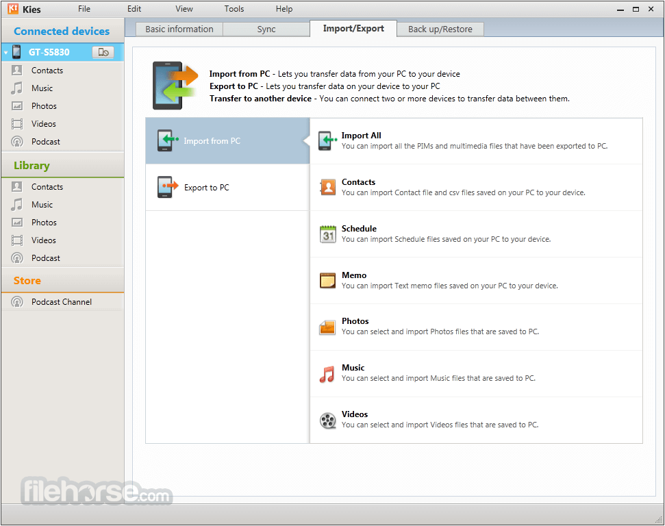 Samsung Kies for Mac 3.0.1.14043.5 Captura de Pantalla 3
