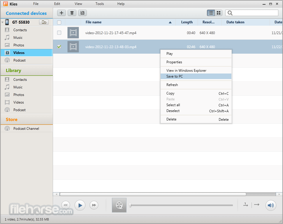 Samsung Kies 3.0.0.13091.3 Screenshot 4
