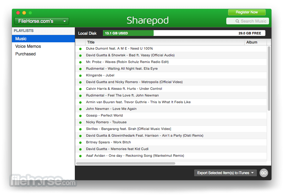Sharepod for Mac 4.0.7.0 Captura de Pantalla 2