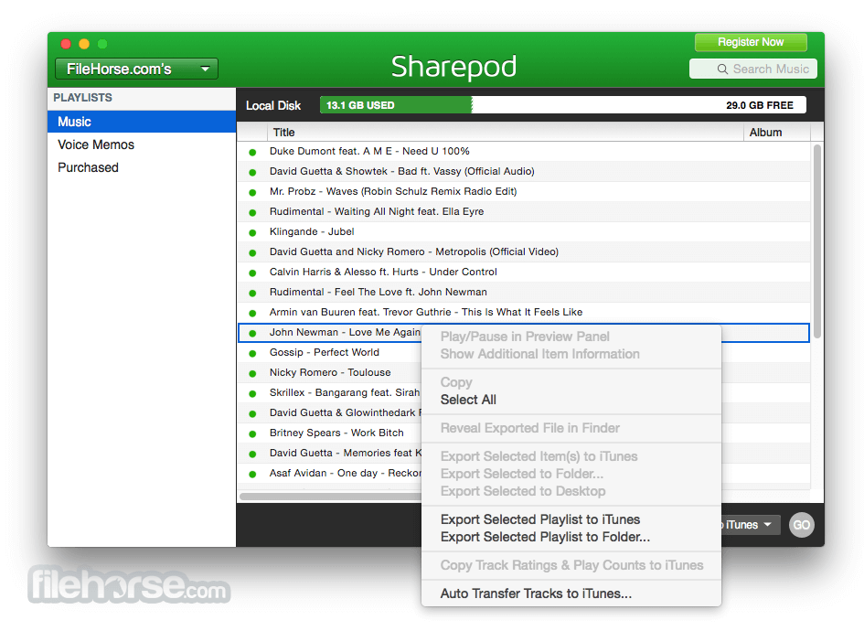 Sharepod 4.3.2.0 Screenshot 3
