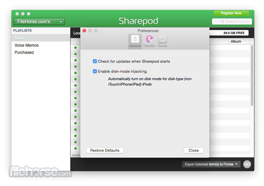Sharepod for Mac 4.0.7.0 Captura de Pantalla 4