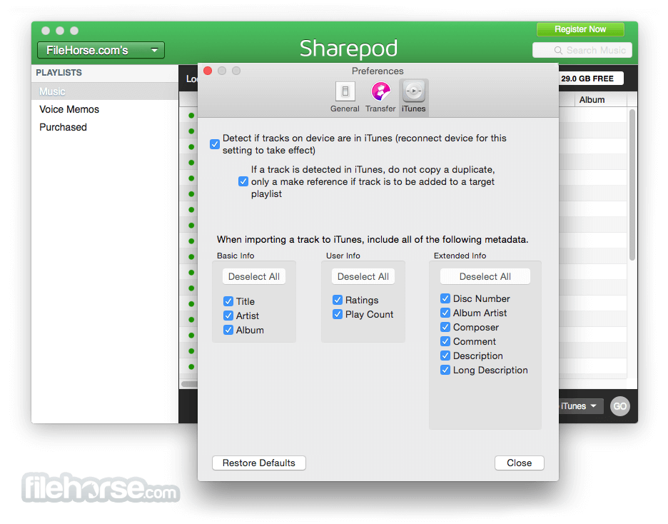 Sharepod for Mac 4.0.7.0 Captura de Pantalla 5