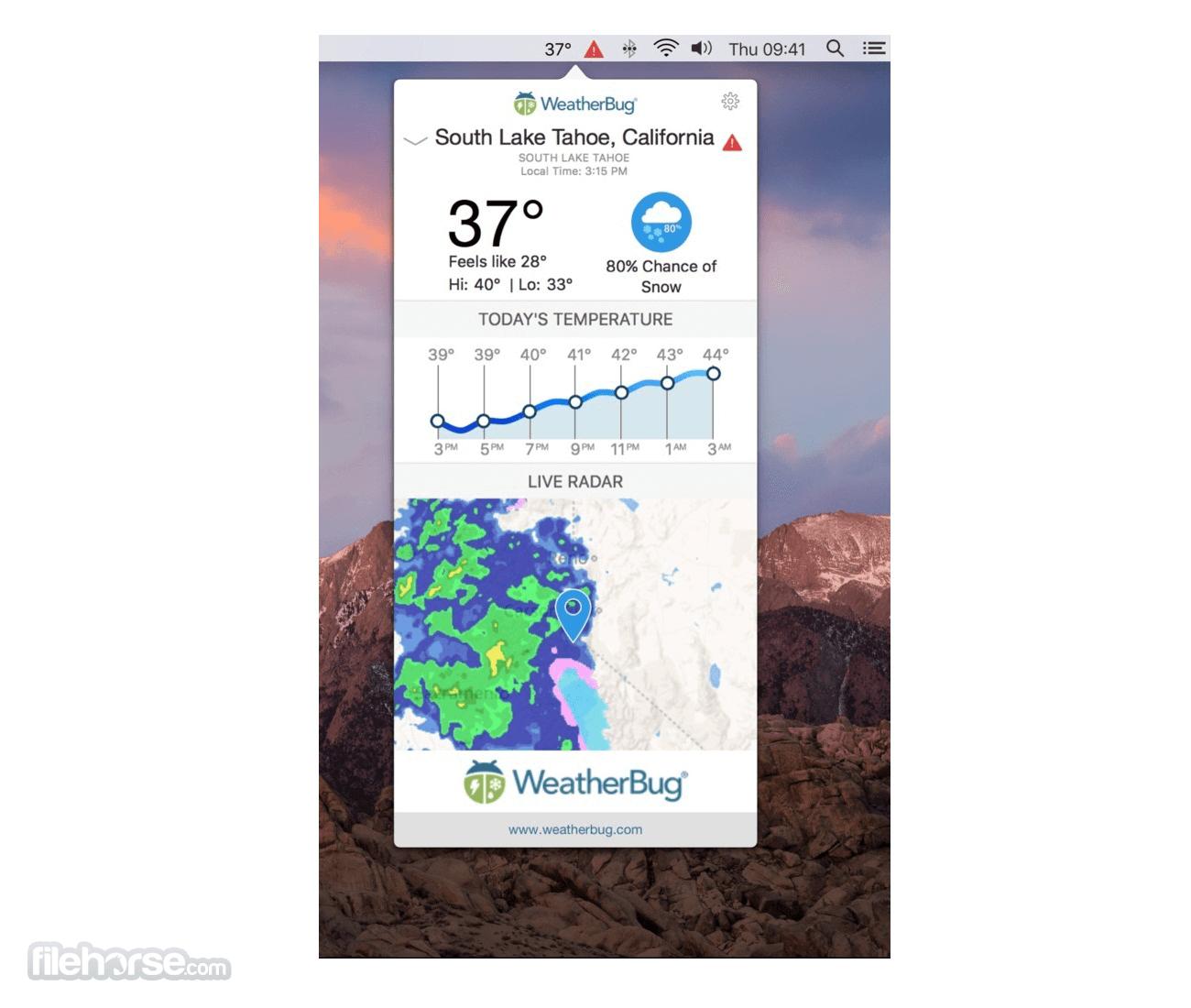 WeatherBug 1.0.2 Screenshot 1