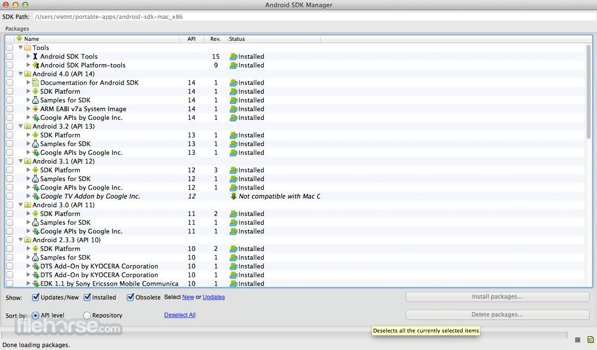 Android SDK 30.0.4 Screenshot 1