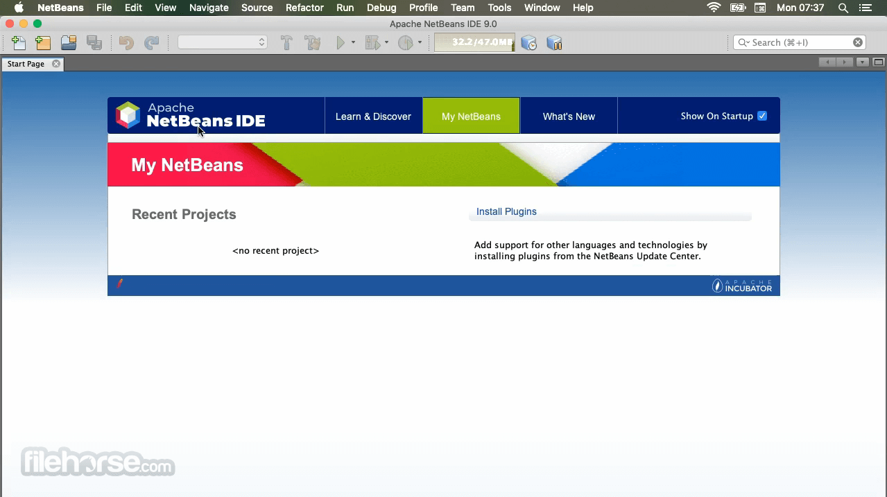 Apache NetBeans 11.0 Incubating Screenshot 1