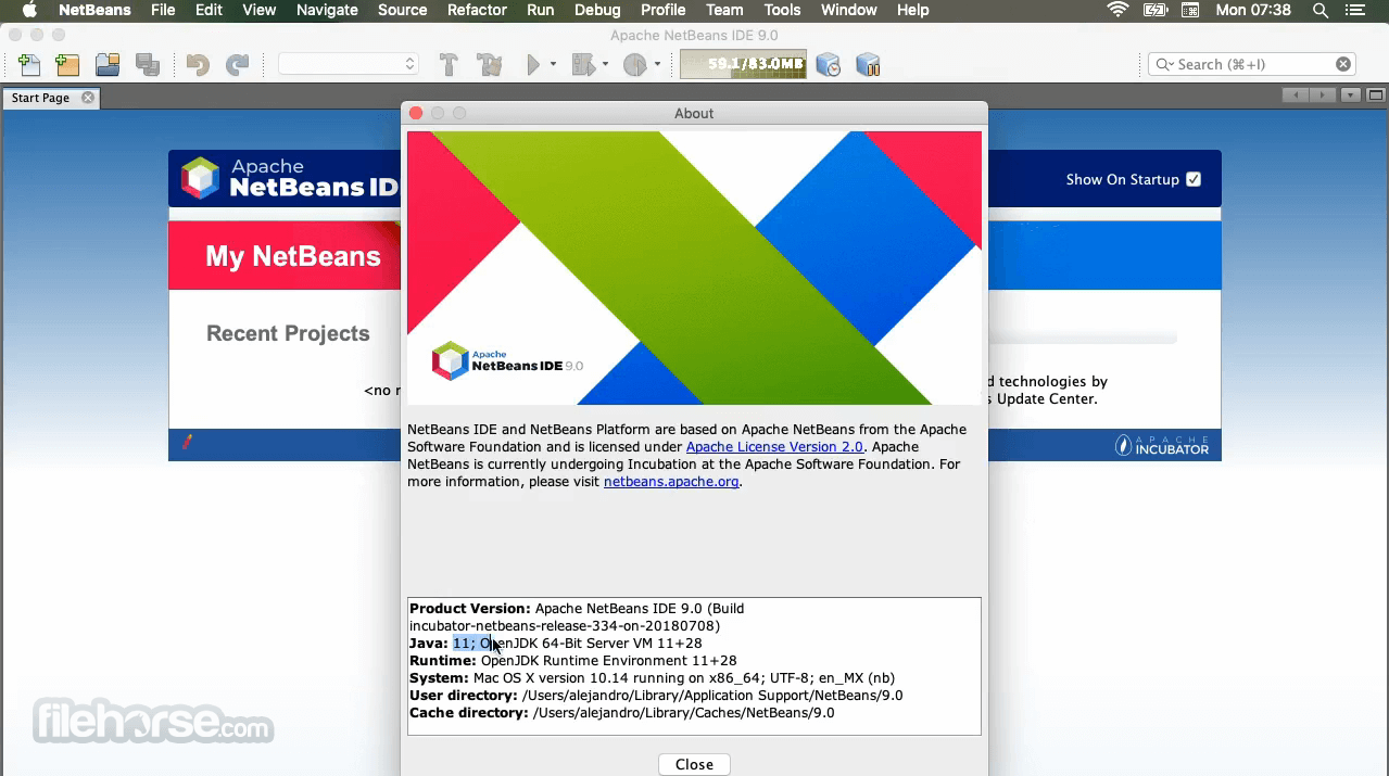 Apache NetBeans 11.0 Incubating Screenshot 2