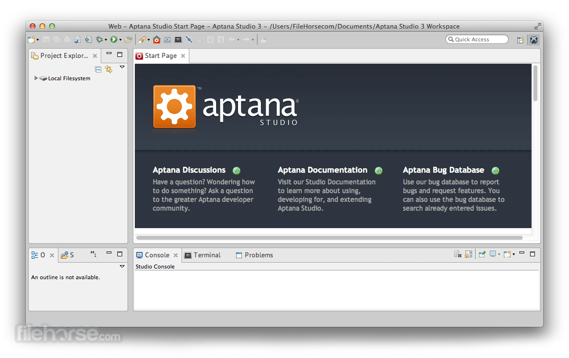 Aptana Studio 3.6.0 Screenshot 1