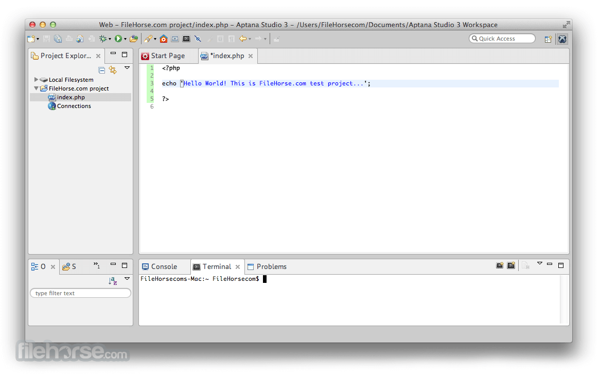 Aptana Studio 3.6.0 Screenshot 2