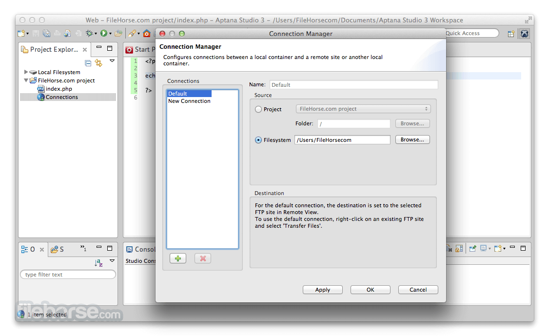 Aptana Studio 3.6.0 Screenshot 3